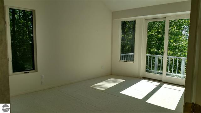 Master bedroom with walk out balcony